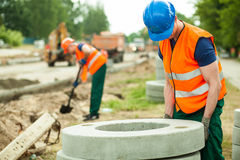 Labourer during work Stock Photos