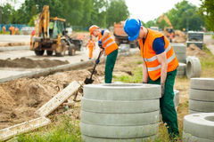 Labourer working hard Stock Photography