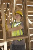 Labourer Works On Building Construction Stock Image