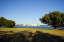 Labrador Gold Coast Australia. View from the Spit across the Broadwater of Labrador on the Gold Coast Australia royalty free stock photo