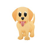 Labrador retriever is cute dog cartoon with illustration of pape Stock Photography