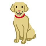 Labrador Retriever,Simple cartoon Illustration.  Stock Photos