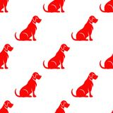 Labrador silhouette seamless. celebrate year of dog. Royalty Free Stock Photography