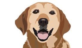 Labradora kalkowania sztuki projekta psa Wektorowy portret ilustracji