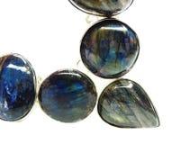 Labradore gemstone beads necklace jewelery Stock Photography