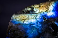 Macro detail of an labradorite royalty free stock photo
