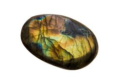 Labradorite isolated on white background royalty free stock photos