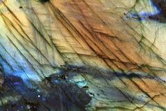 Labradoritemineralbakgrund Arkivfoton