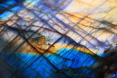 Labradorsteen minerale achtergrond Stock Foto