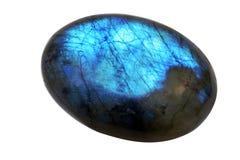 Labradorsteenhalfedelsteen royalty-vrije stock afbeelding