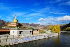 Labrang Lamasery av tibetan buddism i Kina Royaltyfri Fotografi