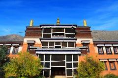Labrang Lamasery des tibetanischen Buddhismus in China Lizenzfreie Stockfotos