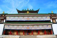 Labrang Lamasery do budismo tibetano em China Imagem de Stock