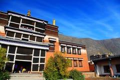 Labrang Lamasery do budismo tibetano em China Fotos de Stock Royalty Free