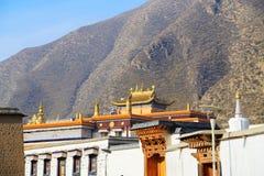 Labrang Lamasery do budismo tibetano em China Imagem de Stock Royalty Free