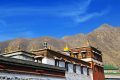 Labrang Lamasery do budismo tibetano em China Foto de Stock Royalty Free