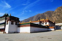 Labrang Lamasery of Tibetan Buddhism in China. Labrang Lamasery is one of six most important temple in Tibetan of Tibetan Buddhism,  located in  Gansu Province Stock Photo