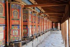 Labrang Lamasery Tybetański buddyzm w Chiny zdjęcia stock