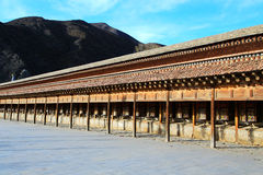 Labrang Lamasery van Tibetaans Boeddhisme in China Stock Foto's