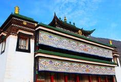 Labrang Lamasery van Tibetaans Boeddhisme in China Royalty-vrije Stock Afbeeldingen