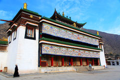 Labrang Lamasery van Tibetaans Boeddhisme in China Royalty-vrije Stock Foto's