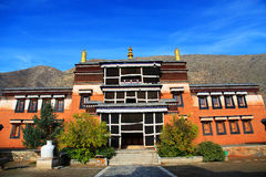 Labrang Lamasery van Tibetaans Boeddhisme in China Stock Foto