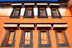 Labrang Lamasery van Tibetaans Boeddhisme in China Stock Afbeeldingen