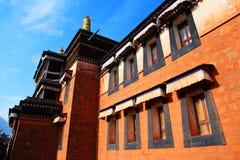 Labrang Lamasery van Tibetaans Boeddhisme in China Royalty-vrije Stock Foto