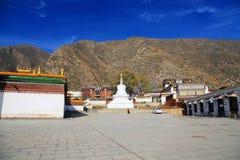 Labrang Lamasery van Tibetaans Boeddhisme in China Stock Afbeelding