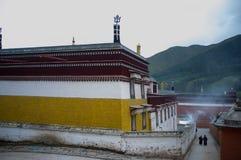 Labrang Monastery av Gannan Arkivfoto