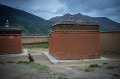 Labrang Monastery av Gannan Arkivbilder