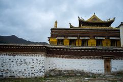 Labrang Monastery di Gannan immagini stock libere da diritti