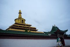 Labrang Monastery di Gannan fotografia stock