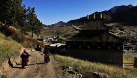 Labrang Monastery. Located in Xiahe County, Gannan Tibetan Autonomous Prefecture, Gansu Province, is one of the six major monasteries of Tibetan Buddhism Gelug Royalty Free Stock Photos