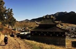 Labrang Monastery. Located in Xiahe County, Gannan Tibetan Autonomous Prefecture, Gansu Province, is one of the six major monasteries of Tibetan Buddhism Gelug Royalty Free Stock Images