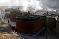 Labrang Monastery. Located in Xiahe County, Gannan Tibetan Autonomous Prefecture, Gansu Province, is one of the six major monasteries of Tibetan Buddhism Gelug Stock Photos