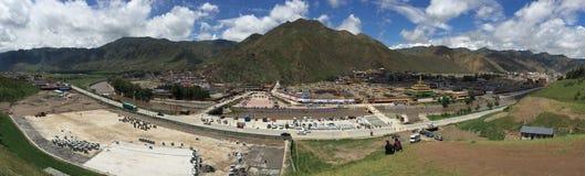 Labrang Monastery Panorama imagem de stock