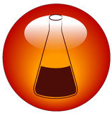 Labratory flask icon Royalty Free Stock Photography