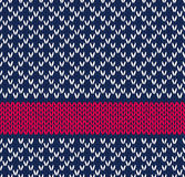 Labre el Knit blanco azul inconsútil del color rojo Imagen de archivo