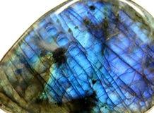 Labrodore地质矿物水晶特写镜头 免版税库存图片