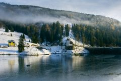 Labska湖,捷克 免版税库存照片