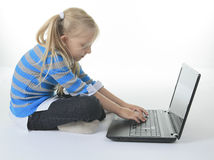 Labtop child Stock Images