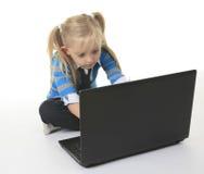 Labtop child Royalty Free Stock Photos