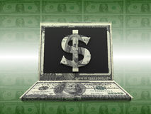 Labtop Money Stock Photography