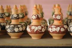Labu Sayong (récipients d'entreposage traditionnels de l'eau) Photos stock