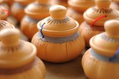 Labu Sayong (récipients d'entreposage traditionnels de l'eau) Photographie stock libre de droits