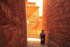 Labuleng寺庙,在甘肃南部,中国 免版税库存图片