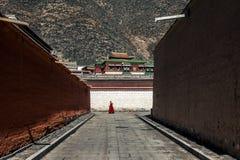 Labuleng świątynia, południe Gansu, Chiny obraz royalty free