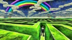 labyrint Royalty-vrije Stock Fotografie