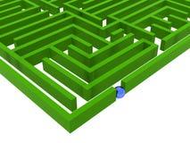 labyrint 3dlabyrinth Arkivfoto